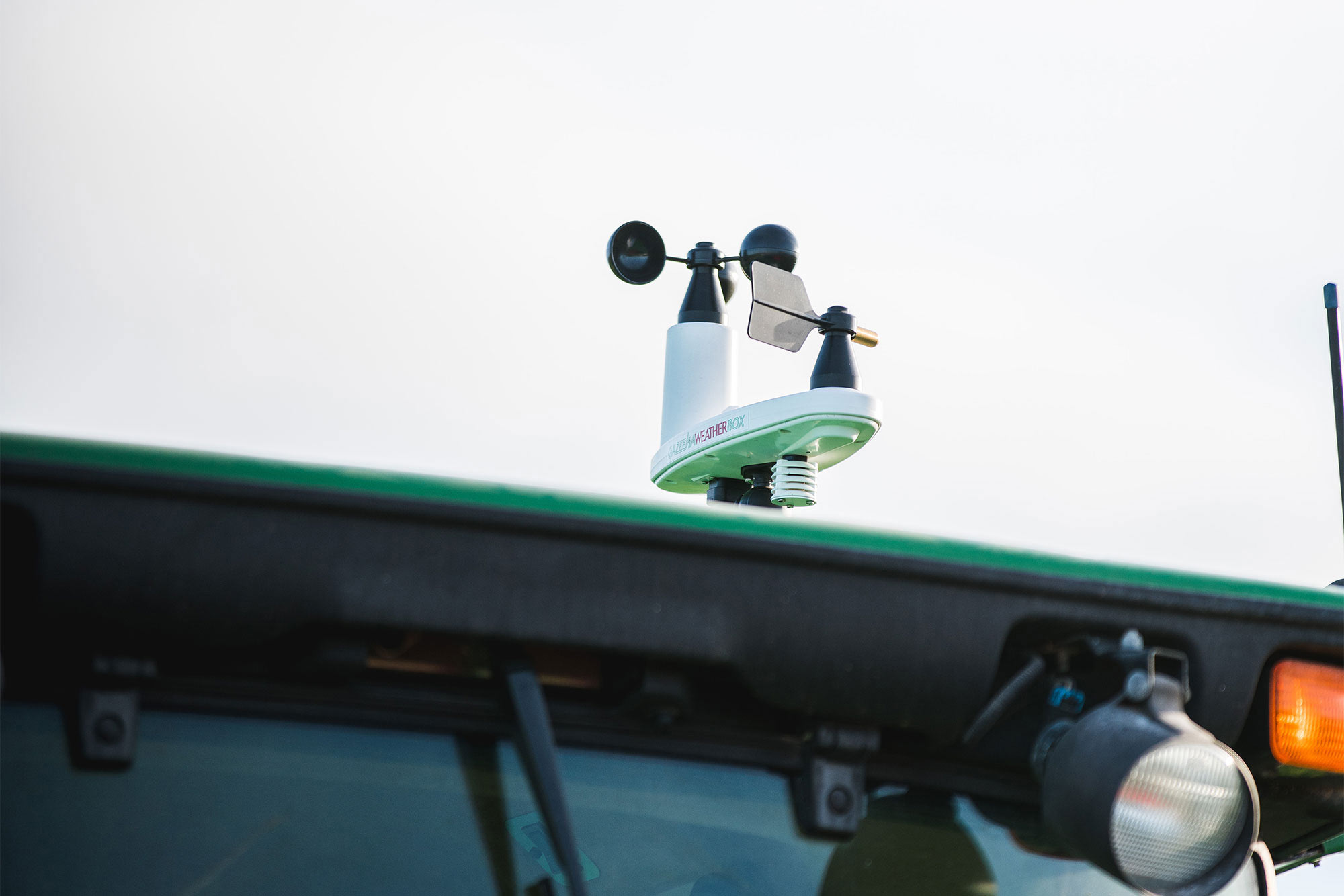 Gazeeka WeatherBox on Tractor Roof